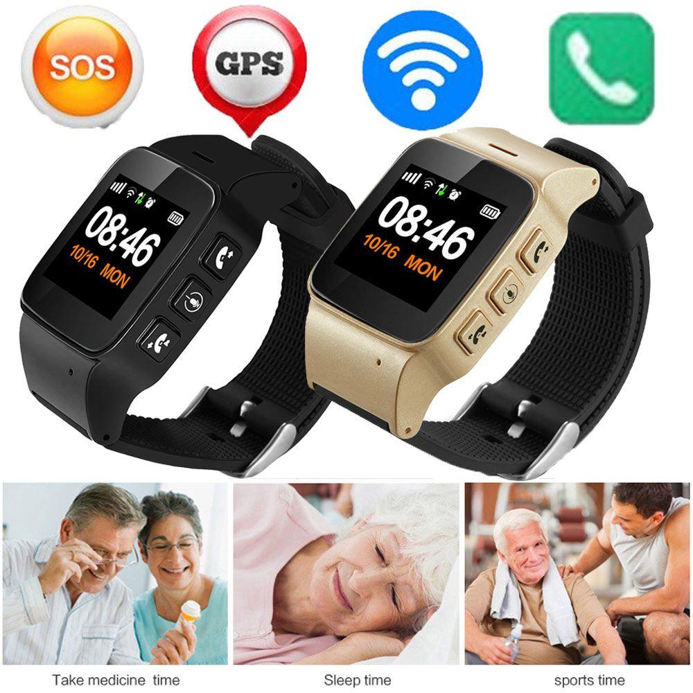 2017 new high quality d99 elderly smart watch antilost