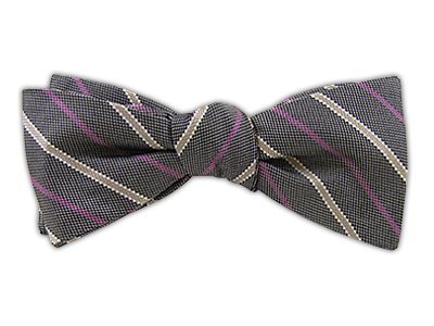 SELECTED!!!! The Highline - Silver/Azalea (JTF Bow Ties) | Ties, Bow Ties, and Pocket Squares | The Tie Bar