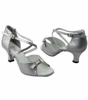 90b8cbd0bcae E.K. Clothing Dance Shoes Wide Width 1636  126 Silver Stardust   Stone for  weddings