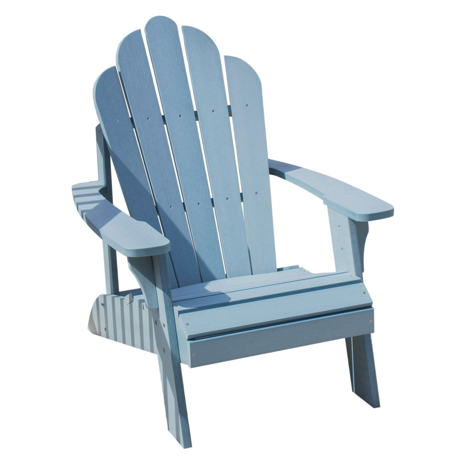 Outdoor backyard expressions recycled plastic adirondack chair