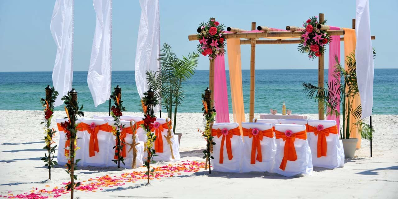 Sunset Beach Wedding Packages Marriage License Alabama Gulf Shores Weddings On The
