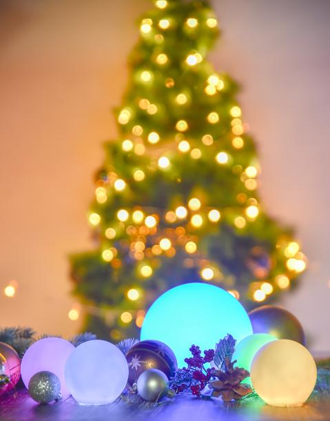 Loftek Rgb Led Ball Light For Christmas Decorating Ball Christmas Christmasoutdoorlightsdiy In 2020 Led Ball Lights Christmas House Lights Outdoor Christmas Lights