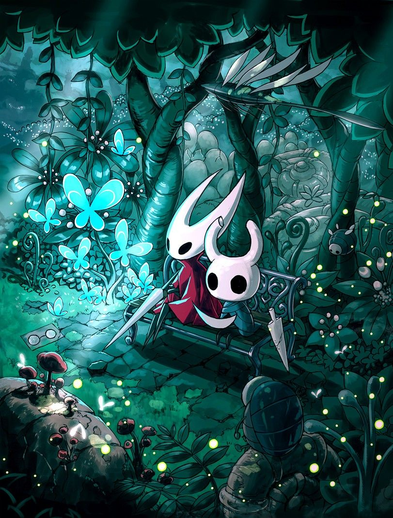 Hollow Knight Greenpath With Hornet Knight Art Hollow Art Knight