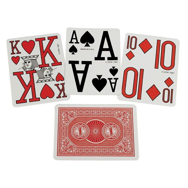 Marinoff Large Print Playing Cards Playing Card Deck Low Vision Playing Cards