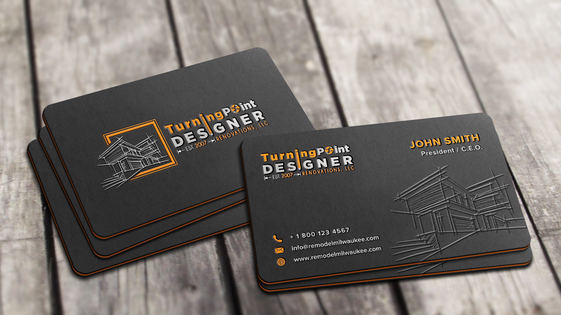 Attractive business cards design biz card design dc attractive business cards design colourmoves