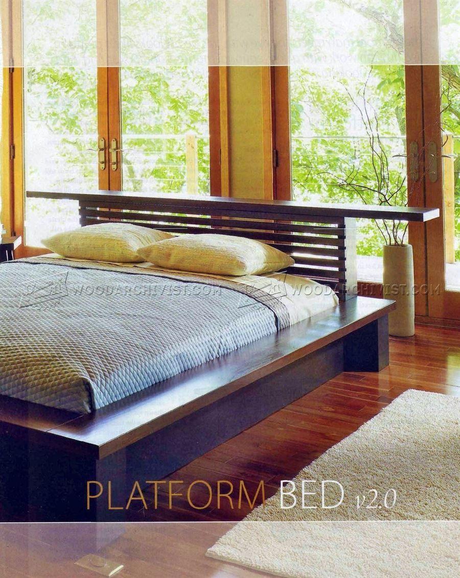 613 platform bed plans furniture plans furniture pinterest