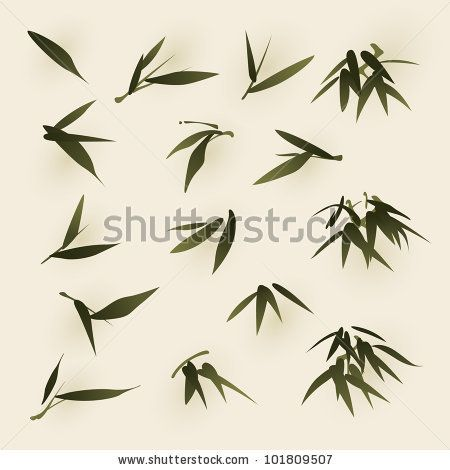 Bamboo Leaf Line Art Google Search In 2019 Japanese Painting