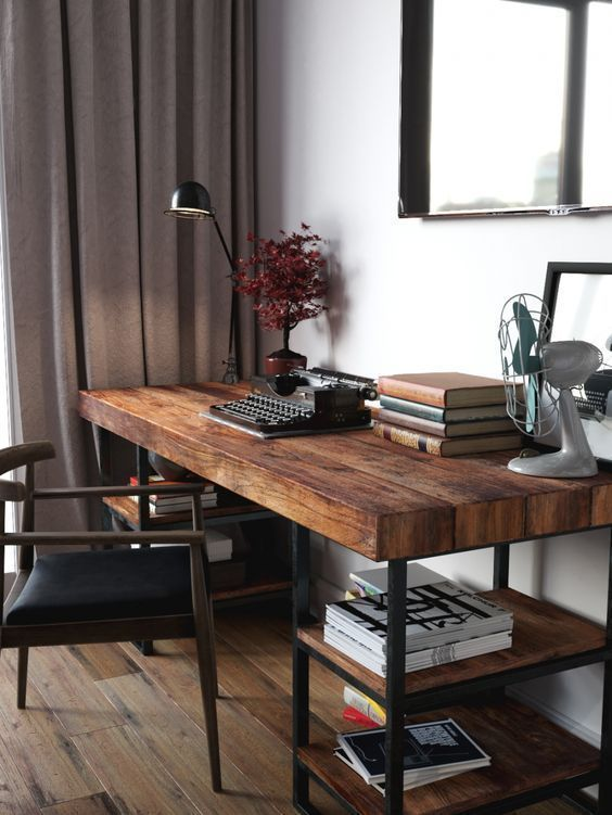 Reclaimed Wood Desks - The Bridge Between Past And Present In Your Home -  Most reclaimed wood comes from old barns, warehouses, factories and other structures and is used in - #antiquedecor #apartmentdecor #bedroomdecor #between #bridge #desks #home #homedecor #present #reclaimed #wood