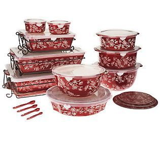 Temp-tations Floral Lace 24-piece Oven-to-Table Set | Floral lace ...