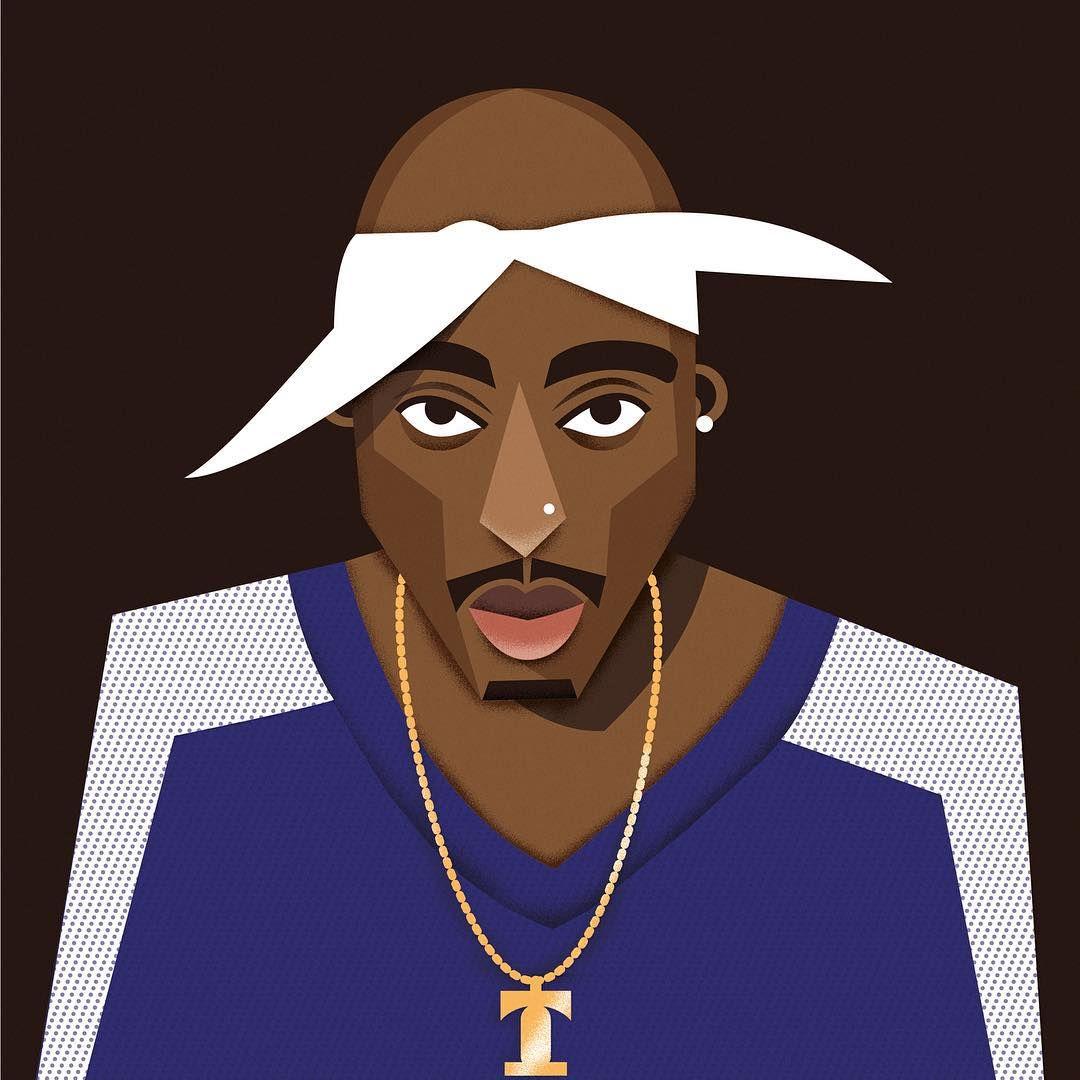A Z Cartoon Characters Rap : Tupac shakur pac illustration hiphop