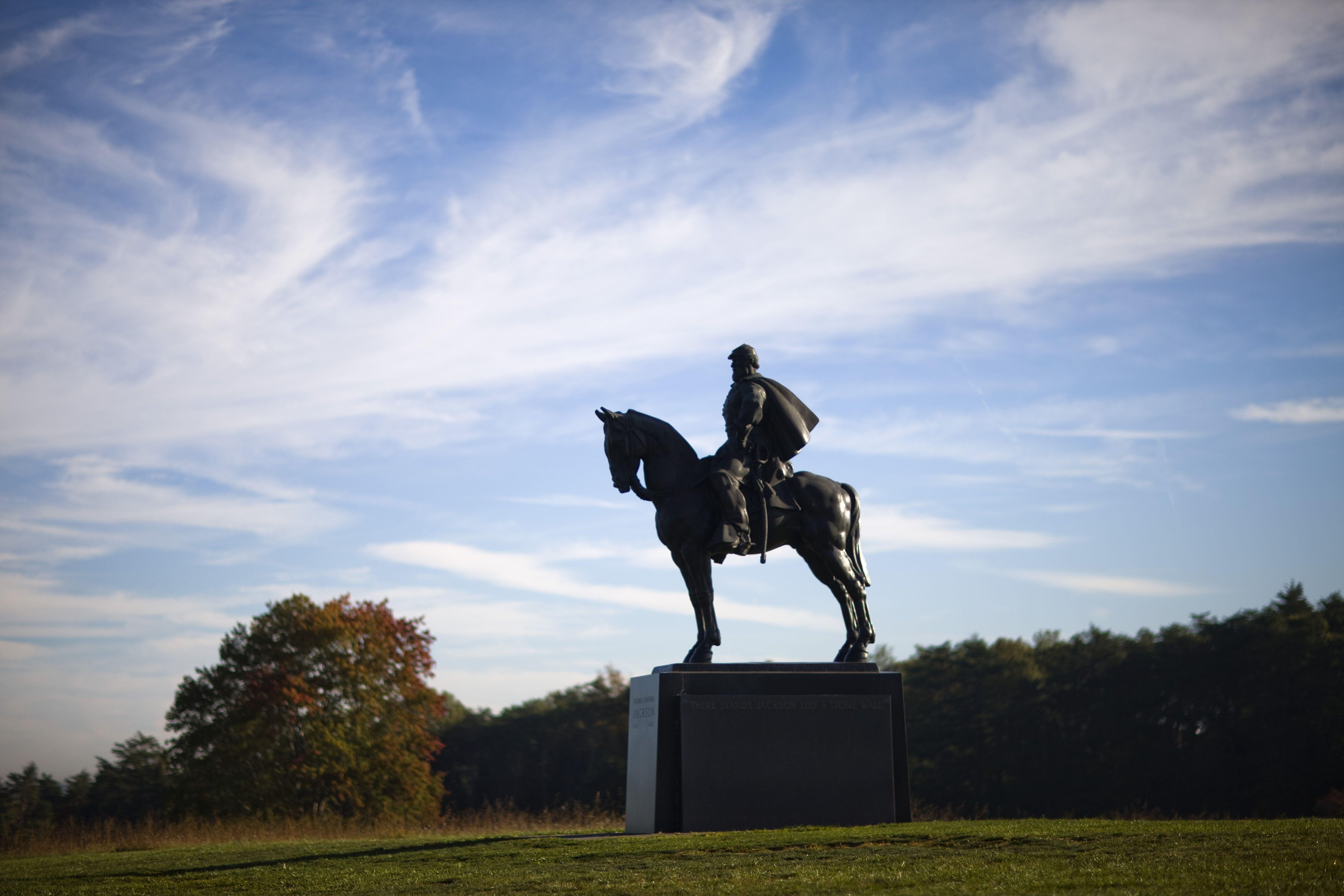 confederate general thomas jackson bull run battlefield battle of