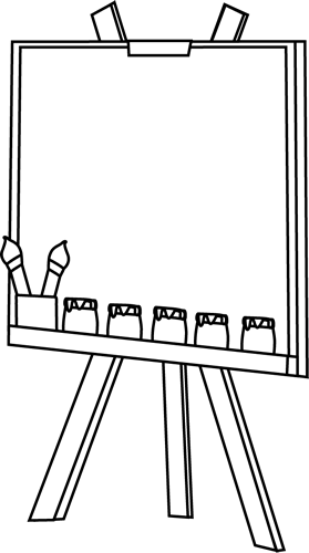 Black And White Easel Clip Art Black And White Easel Image Clip Art Art Images Art