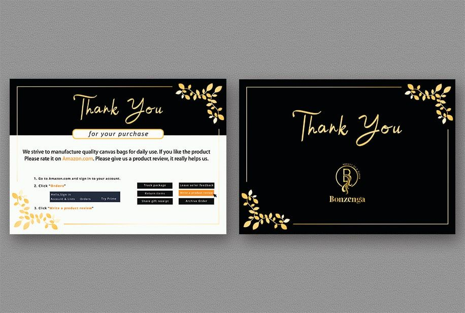 Design Amazon Thank You Card Product Insert Package Insert By Sadiasultanasa2 Business Thank You Cards Design Business Card Ideas Thank You Cards
