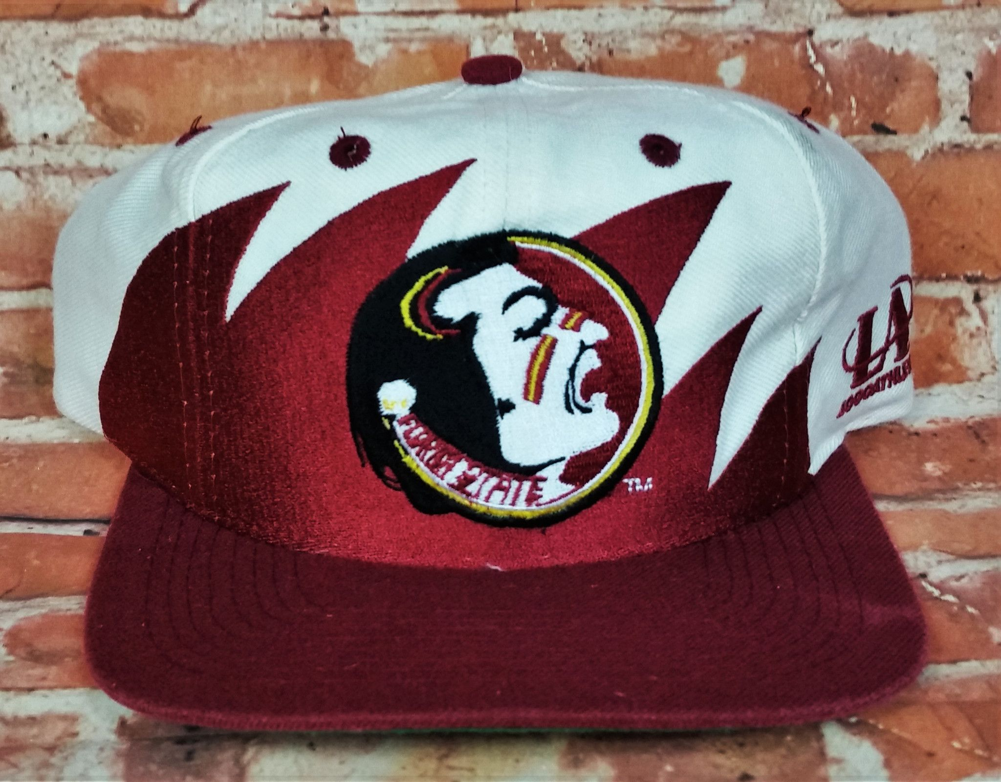 e457825f Florida State Seminoles Vintage Snapback Logo Athletic Sharktooth Hat NCAA  Cap