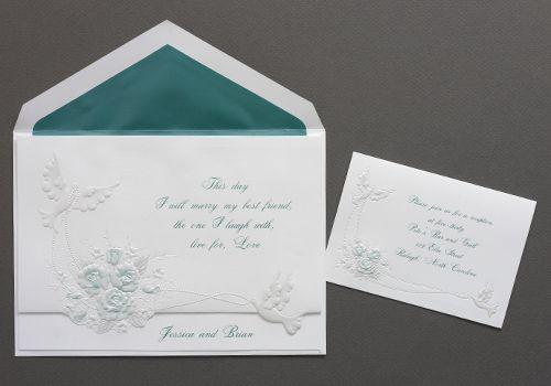 Elegant Wedding Invites Coupon: Dove Wedding Invitations In Emerald Green By The Purple