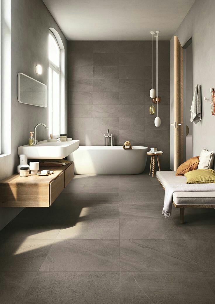 Photo of hedviggen ⚓️ on pinterest | bathroom | shower | minimalistic | bathtub | cem…
