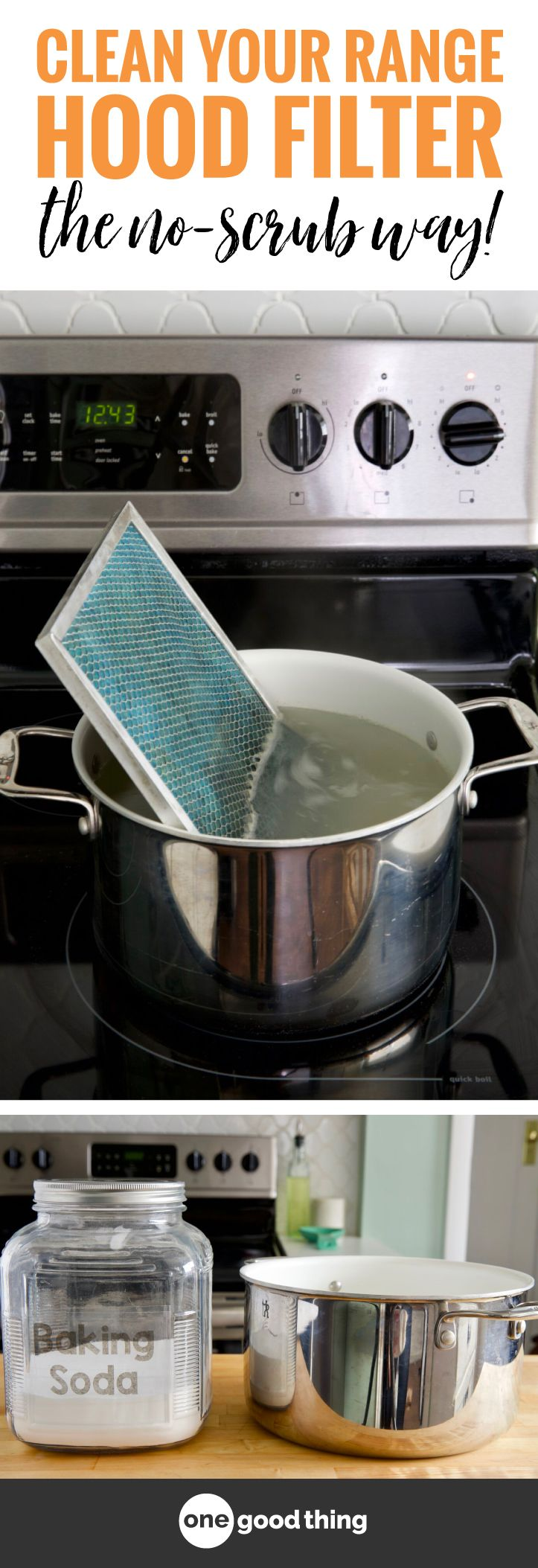 This Is The Easiest Way To Clean Your Range Hood Filter Range Hood Filters Range Hood Clean Baking Pans