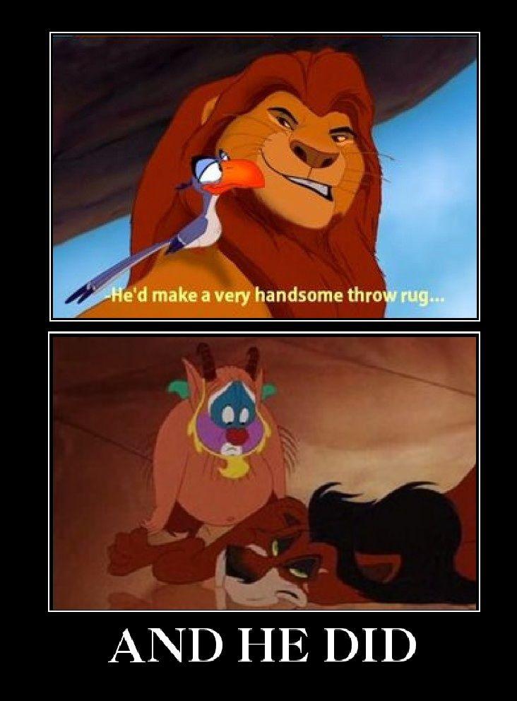 Poor Scar 8 Disney Funny Disney Memes Funny Disney Memes