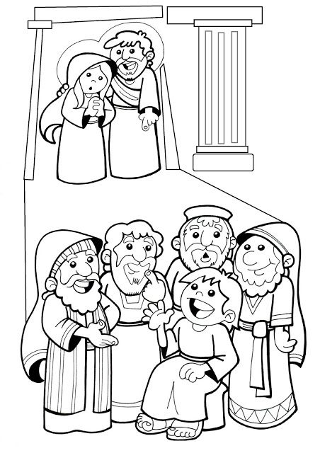 El Rincón de las Melli: DIBUJO: Jesús perdido y hallado en el Templo ...