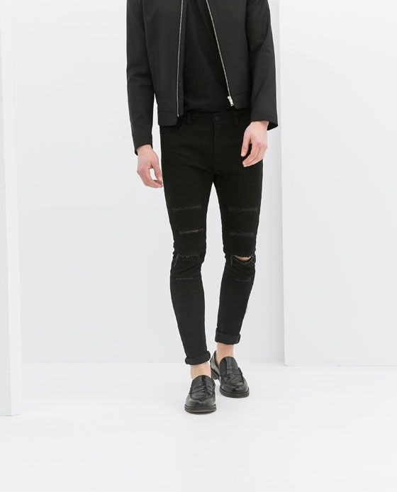 016c4231 Image 2 of RIPPED SKINNY JEANS from Zara | STYLE | Jeans, Ripped ...