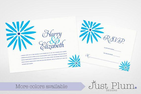 Garden Party Printable Wedding Invitation Suite by JustPlumDesigns, $50.00