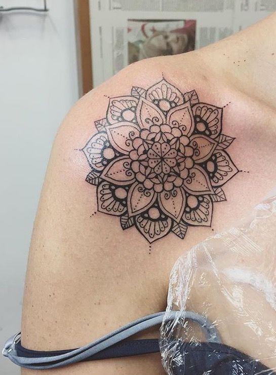 Mandala 2 Braço Tatuagem Do Ombro Mandala Tatuagem
