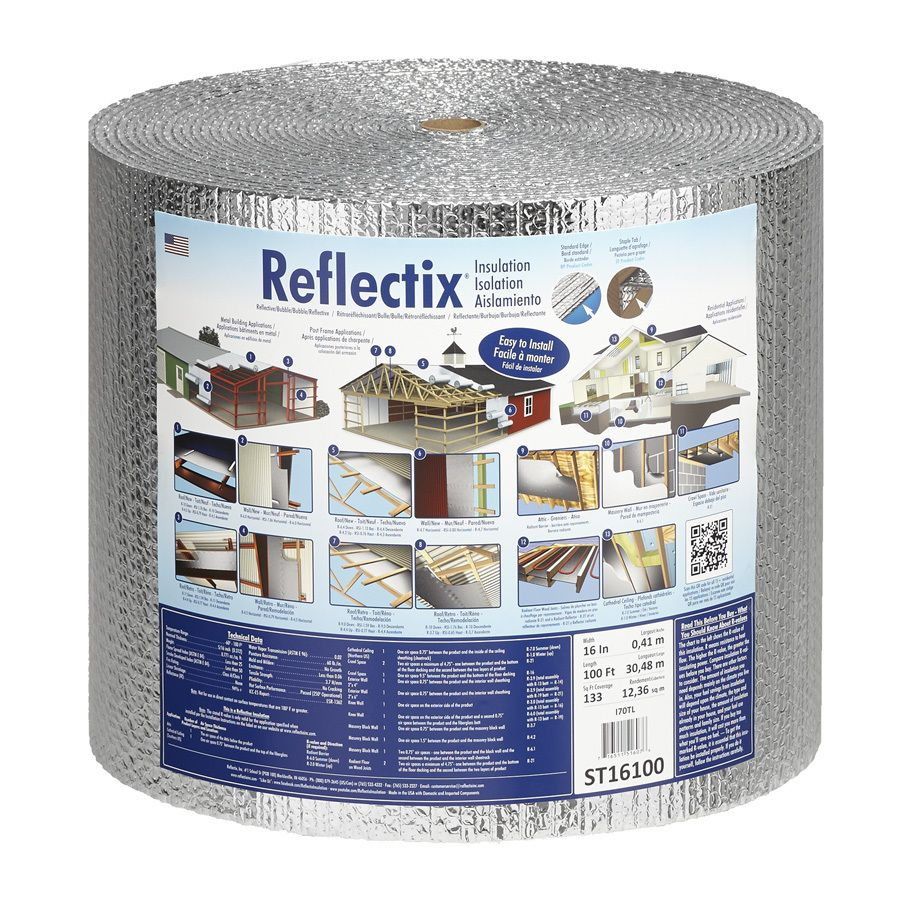 Reflectix 133 3 Sq Ft Reflective Roll Insulation 16 In W X 100 Ft