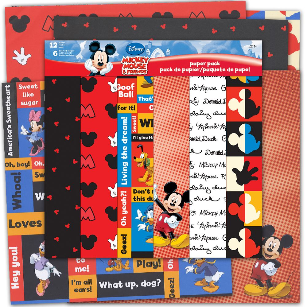 SandyLion - Disney Collection - 12 x 12 Paper Pack - Mickey and Friends at Scrapbook.com