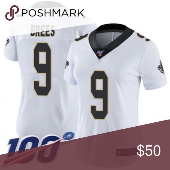 Women Saints Drew Brees 100th Season Jersey 4 1 Brand New With Tags 2 All Items Size Available In Stock 3 All Ite Womens Jersey Jersey New Orleans Saints
