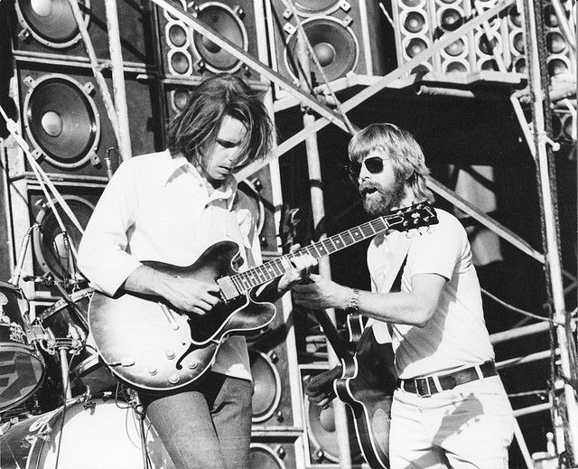 Bob Weir, Phil Lesh of the Grateful Dead - Day On The Green - 6/8/74 Oakland-Alameda County Coliseum, Oakland, California [copyright unknown] | Flickr - Photo Sharing!