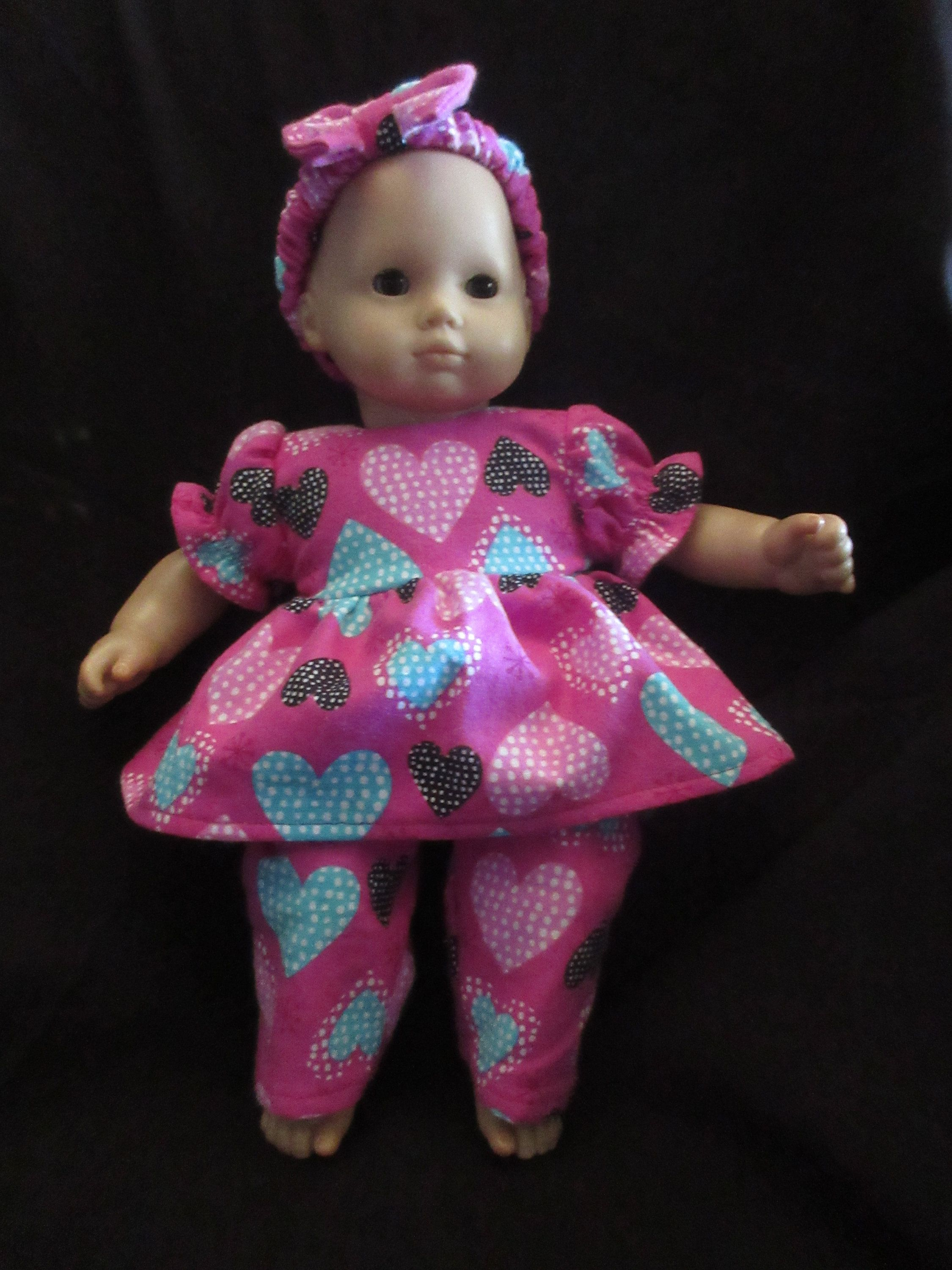 "Handmade 15/"" Doll Clothes for//fits AG Bitty Baby or Twins Doll Baby Girl  Pink"