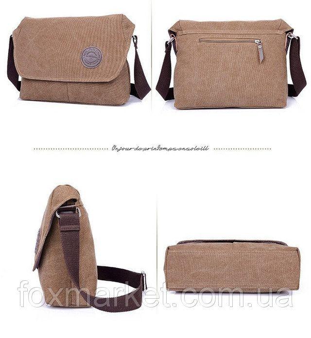 9a8471977cf1 Повседневная мужская сумка на плече. Сумка из ткани для мужчин.  Износостойкая сумка для студента