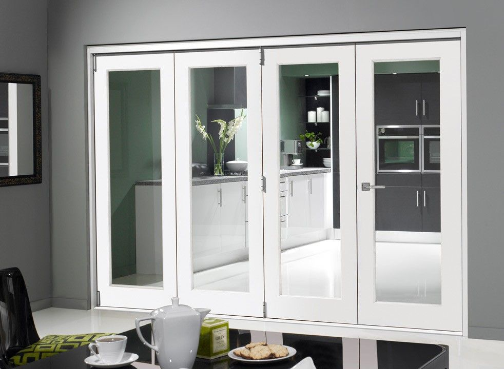 Finesse White 3m Approx 10ft Internal Bifold Doors With Bottom Track Room Divider Doors Internal Folding Doors Folding Room Dividers