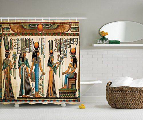 Ambesonne Egyptian Decor Collection Egyptian Papyrus Depicting