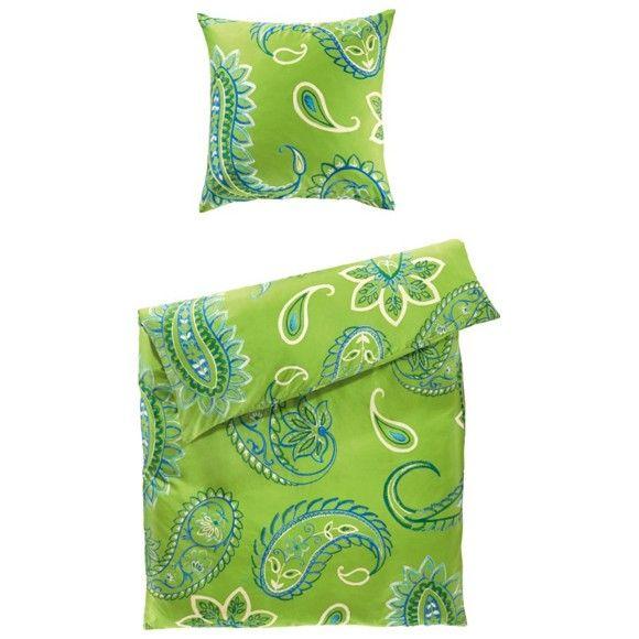 Die Bettwäsche In Grün Holt Mit Dem Ansprechenden Blätter Muster