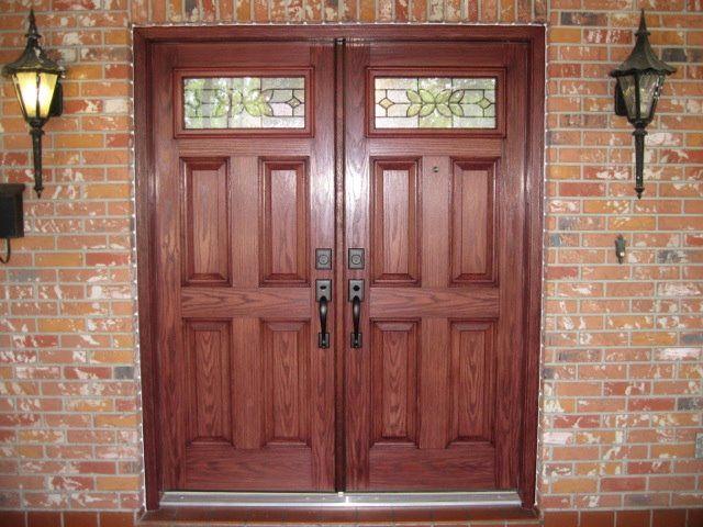 Odl Cadence Inserts In Plastpro Fiberglass Double Doors