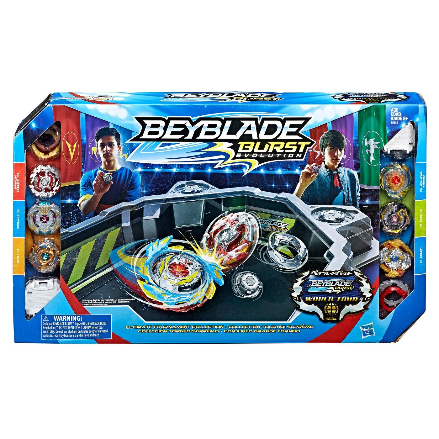 Beyblade Burst Evolution Ultimate Tournament Collection Tops And Beystadium Image 2 Of 2 Beyblade Toys Beyblade Burst Kids Toy Gifts