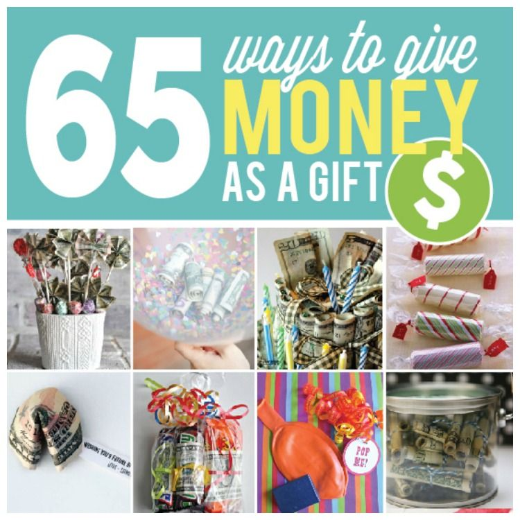 65 Ways to Give Money as a Gift - From   Basteln