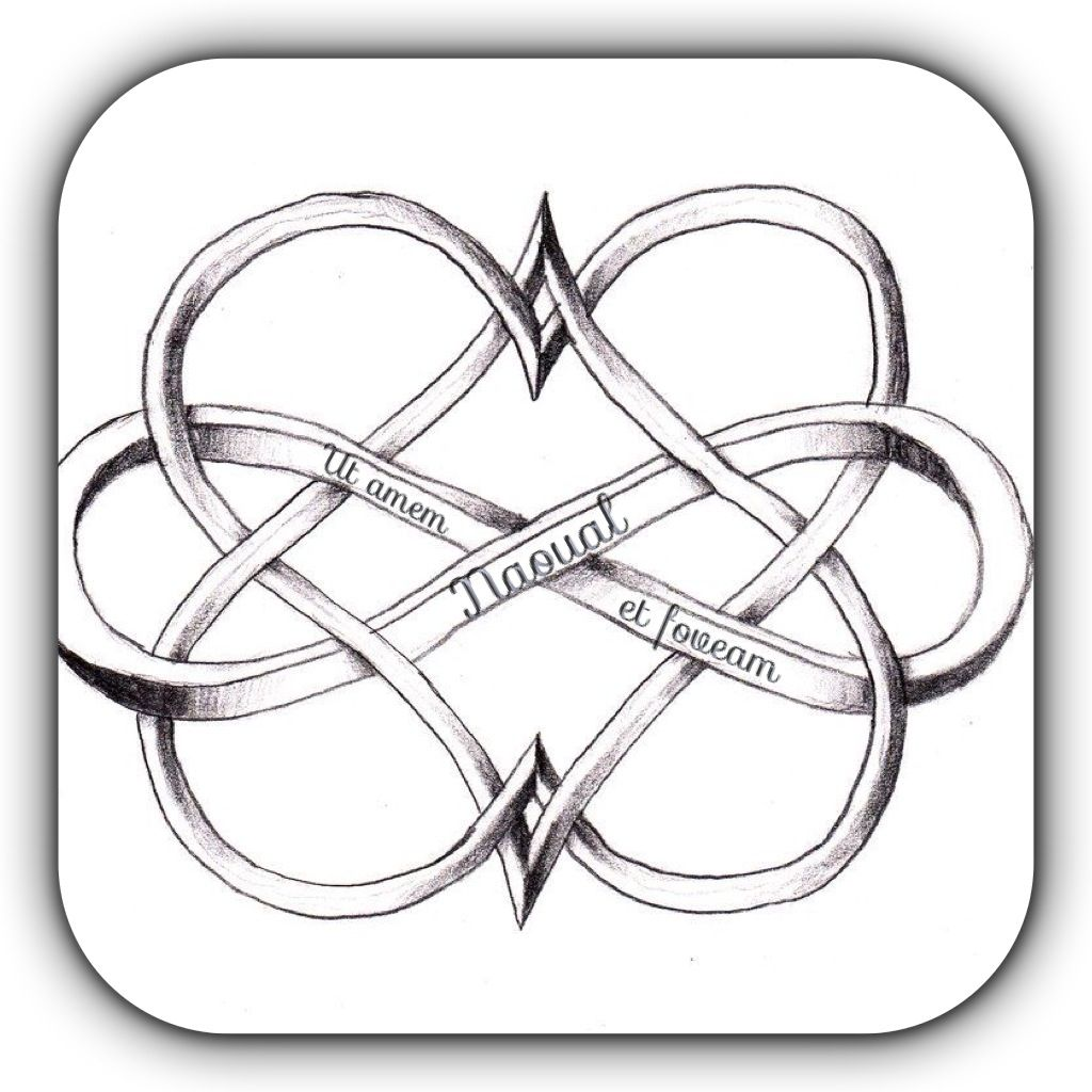 My future tattoo in white ink two hearts with the symbole of i love this double heart infinity idea id get it as a tattoo one heart for each of my children and the infinity symbol for how much and how long i will biocorpaavc Gallery
