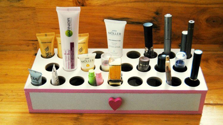 Muebles para guardar el maquillaje hechos a mano  muebles  Pinterest