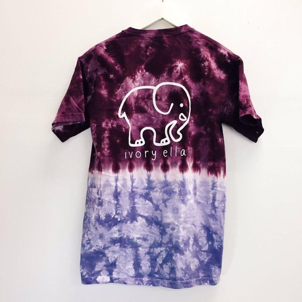 Ivory Ella Purple And Blue Tie Dye Tie Dye T Shirts Tie Dye Women Shirt Top [ 1000 x 1000 Pixel ]