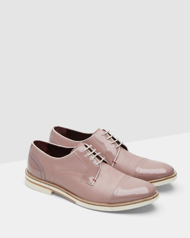 dfc2ad3ef111 High shine leather derby brogues - Light Pink