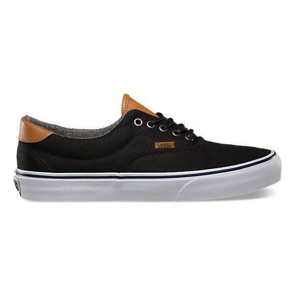 vans era 59 shoe - black washed