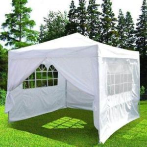 10x10 Ez Pop Up Wedding Party Tent Canopy Gazebo White Love The Windows Think It Would Add To The Charm Of Our Booth We Could Gazebo Tent Canopy Tent