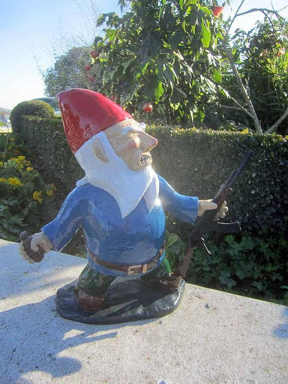 Combat Garden Gnome With Grenade And AK47 By Thorssoli On Etsy, $58.00