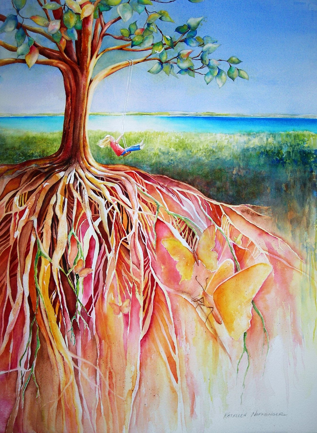Artistic Aspects : Root tree painting google search crafty love