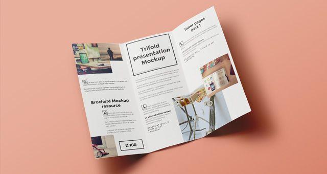 Psd Tri Fold Mockup Template Vol6 Brochure Mockup Free Brochure Trifold Brochure