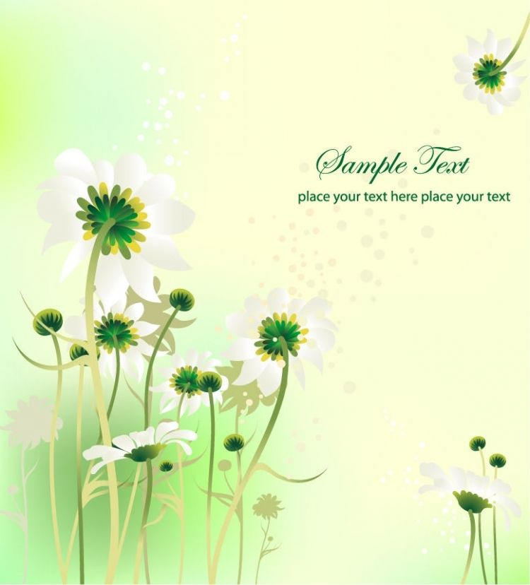 FLOWERS / Free vector Vector flower Flower Design Summer Background Vector Graphic