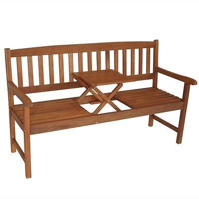 Gartenbank 3 Sitzer 158x59x90cm Holz Eukalyptus Fsc Zertifiziert