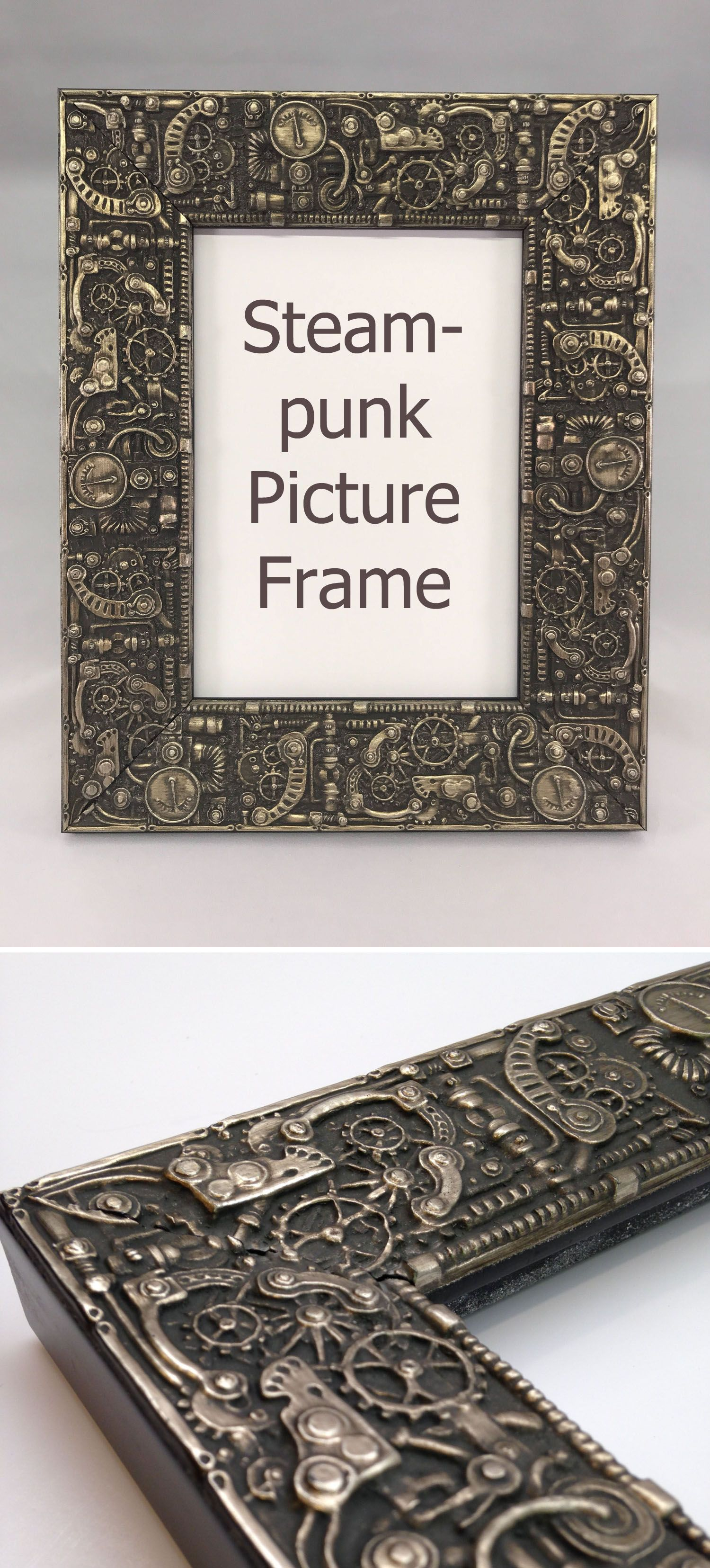 This is a beautiful frame. Steampunk Picture Frame #ad #steampunk ...